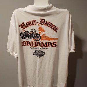 Harley Davidson Bahanas collared shirt